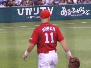 J.ヒューバー内野手