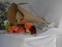 献花台に置いた花