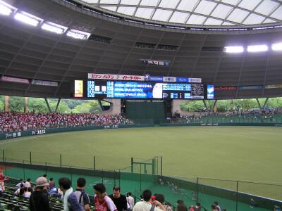 試合後の外野席